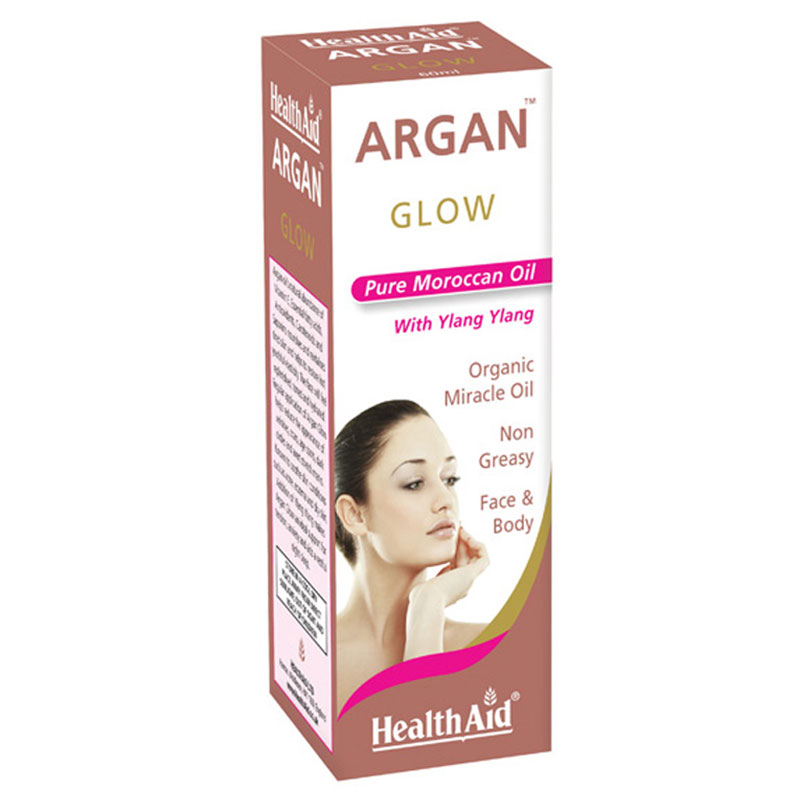 Health aid argan glow -οργανικο λαδι αργκαν 60ml - pharmacy4y overespa