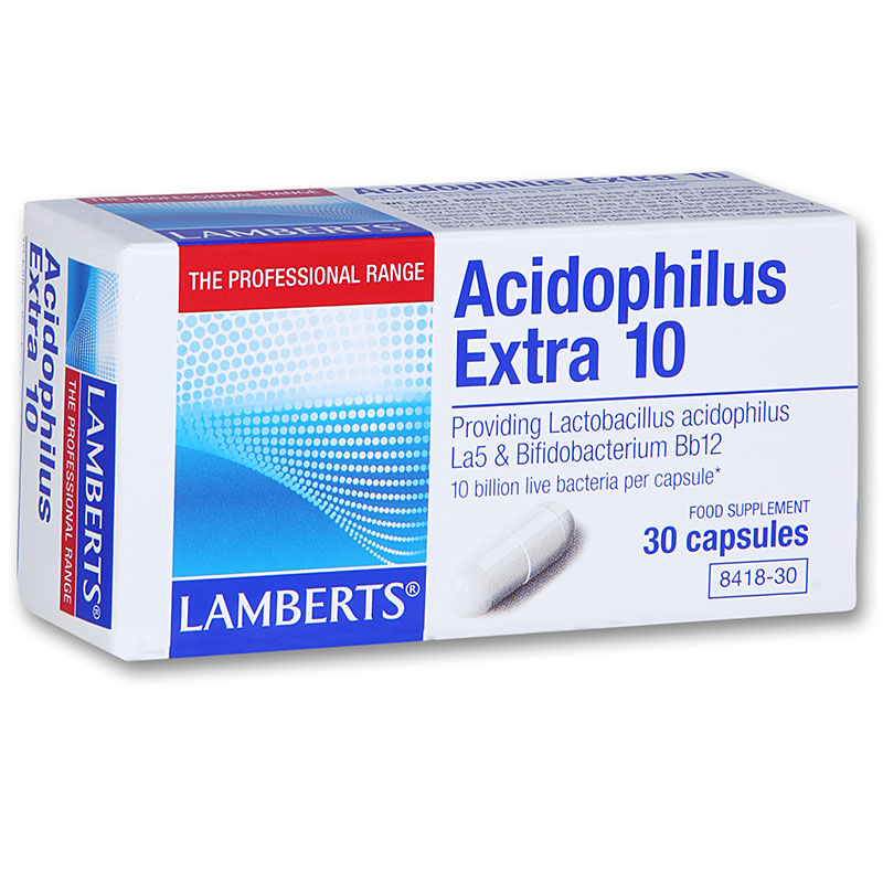 Lamberts Acidophilus Extra 10 30 caps Προβιοτικό για διαταραχή της ισορροπίας της εντερικής χλωρίδα Pharmacy4y Overespa