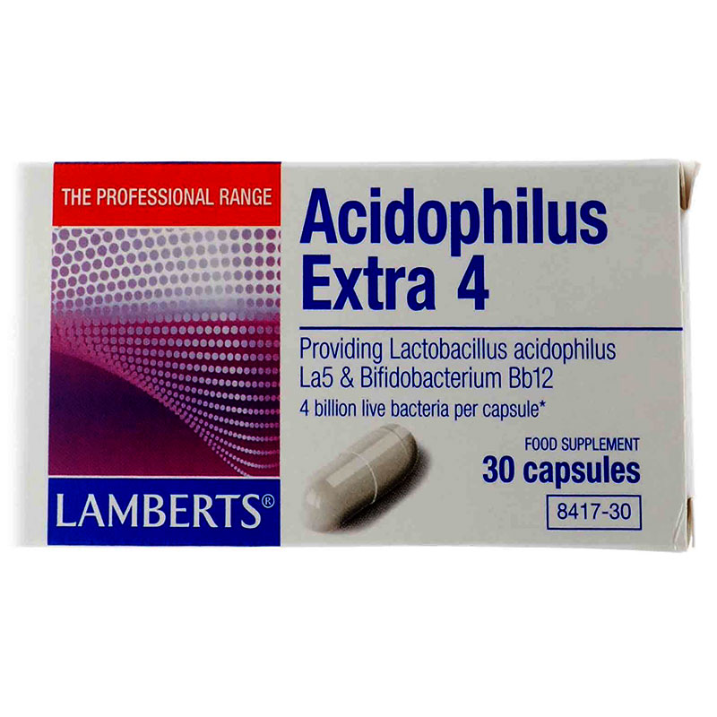 Lamberts Acidophilus Extra 4 Συμπληρώματα διατροφής, 30tabs Pharmacy4y Overespa