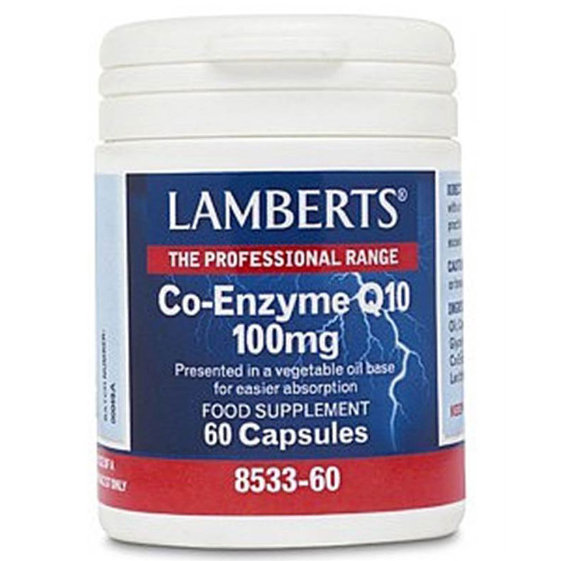 Lamberts Co-enzyme Q10 100mg 60caps Συμπληρώματα Pharmacy4y Overespa