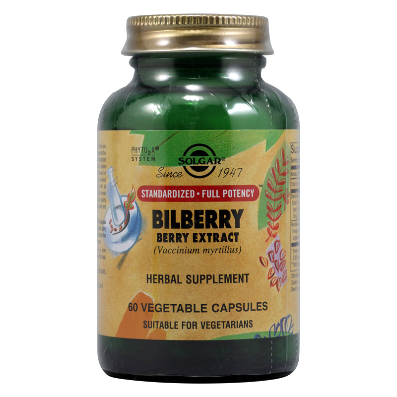 Solgar Bilberry 60mg Ενδυνάμωση και προστασία της όρασης. Vegicaps 50s Pharmacy4y Overespa