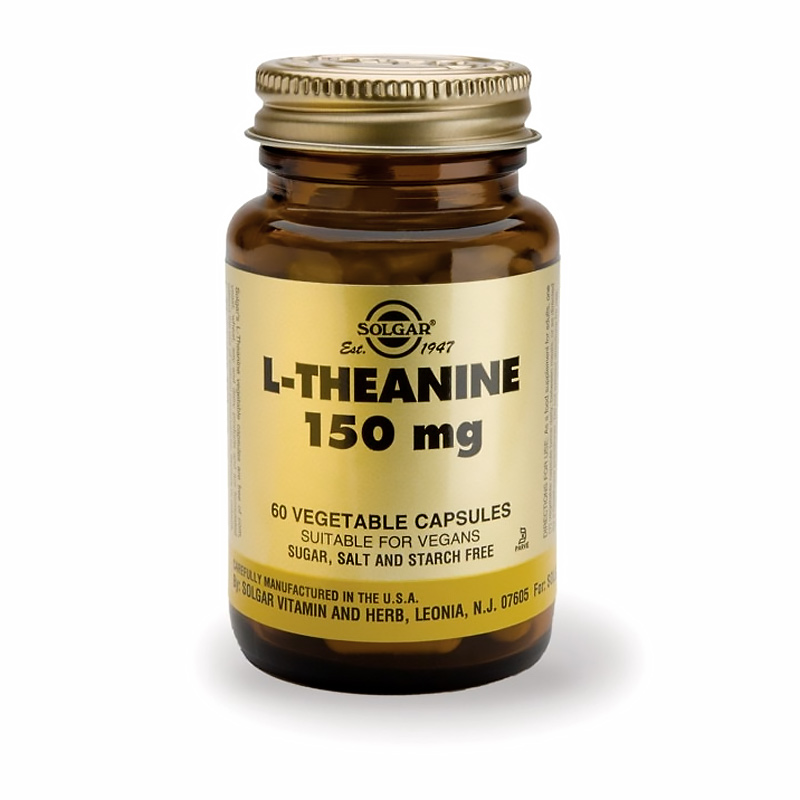Solgar L-theanine 150mg Caps 60s Συμπλήρωμα διατροφής κατά της ανησυχίας Pharmacy4y Overespa