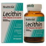 Health aid lecithin with coq10 1000mg and vit e 30 caps Αποτοξινωτικές κάψουλες με συνένζυμο Q10- pharmacy4y overespa