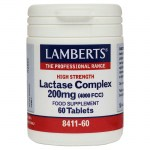 Lamberts Lactase Complex Για μείωση των συμπτωμάτων της δυσανεξίας στη λακτόζη, 200mg 60tabs Pharmacy4y Overespa