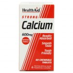health aid Strong Calcium 600mg, Chewable 60tabs Δισκία για τον έλεγχο του νευρικού συστήματος Pharmacy4y Overespa