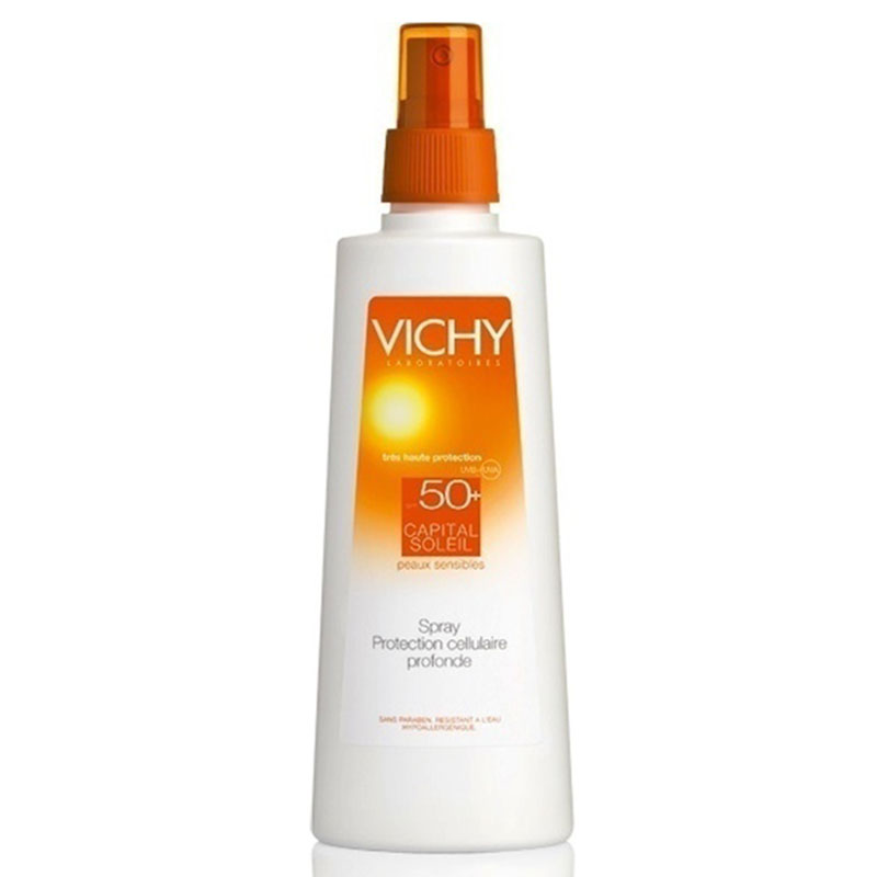 vichy Capital soleil Spray Αντιηλιακό σώματος, spf 50+, 200ml Pharmacy4y Overespa