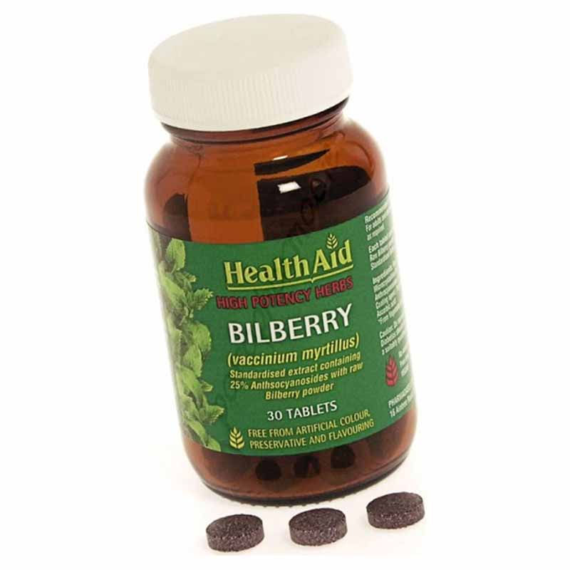 Healthaid Bilberry Berry Extract 30 tablets Συμπληρώματα διατροφής για ενίσχυση της όρασης Pharmacy4y Overespa