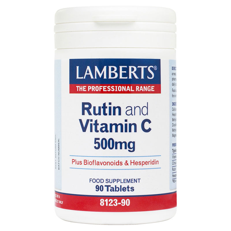 Lamberts Rutin and Vitamin Bioflavonoids Συμπληρώματα, 90tabs Pharmacy4y Overespa