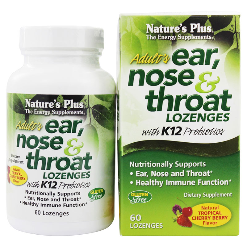 Nature`s plus ear nose & throat lozenges 60 -pharmacy4y overespa