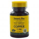 Nature`s plus copper 3 mg tablets 90 -pharmacy4y overespa